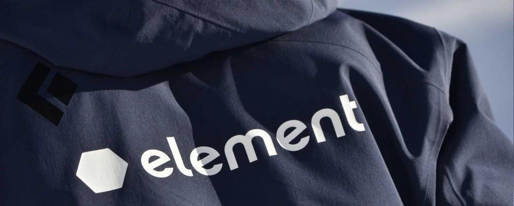 Element ski school uniform jacket and logo