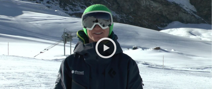 Ski school weather report from Saas Fee