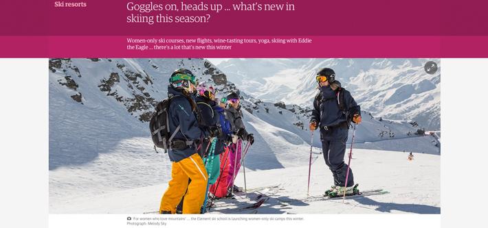 Ski school press review - Guardian UK Women's Camps