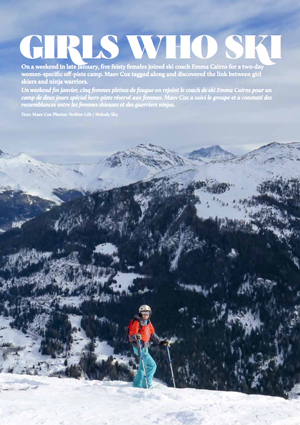 Link to Verbier Life magazine review of Emma's Women's Ski Lessons in Verbier