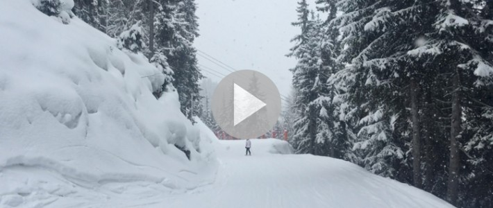 Verbier weather report – it's crazy up there…