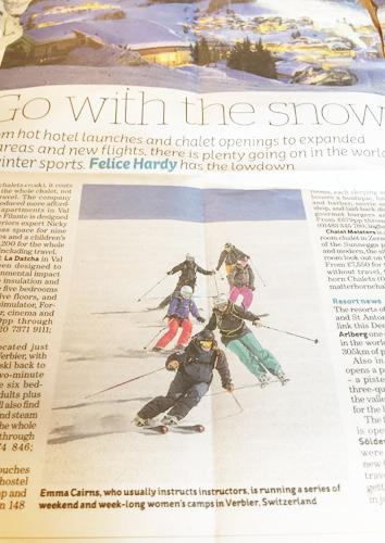 i Newspaper review of Verbier ski school