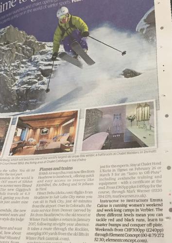 Evening Standard review of Verbier Women's Camps