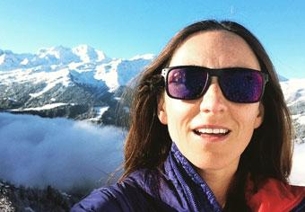 Julie ski instructor Verbier