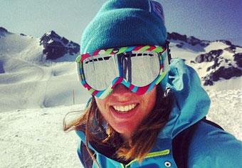 Lottie ski instructor Verbier