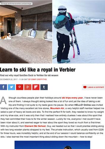 Ski school review - Ski & Board Verbier article