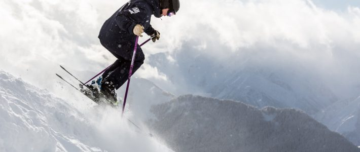 Ski school training – and powder and a photoshoot…