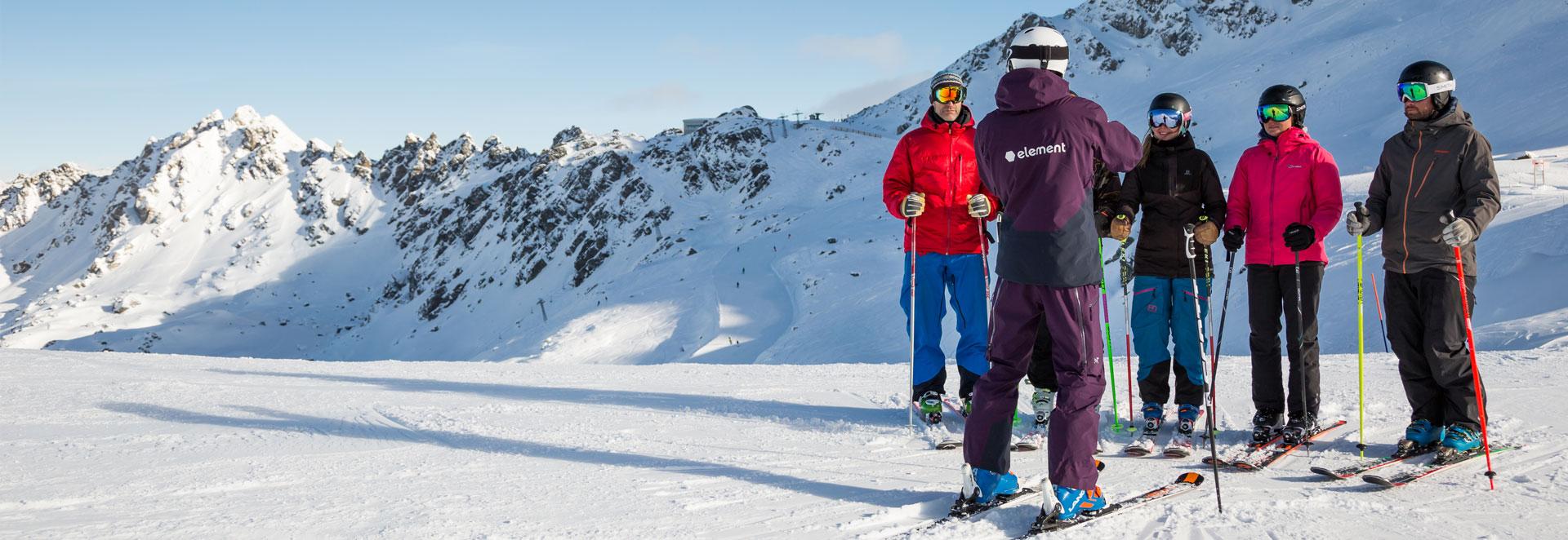 Verbier ISIA ski instructor training group