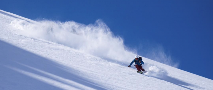 Spring snow and cracking conditions in Verbier