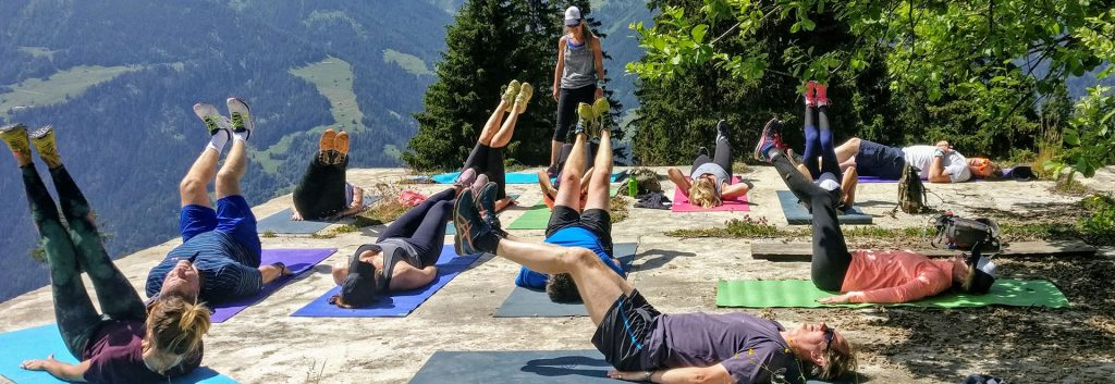 Verbier group fitness training