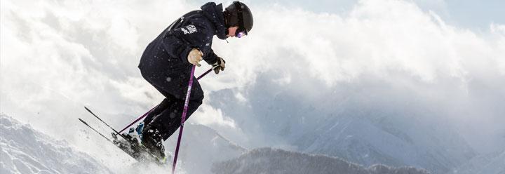 Jack skiing off piste variable