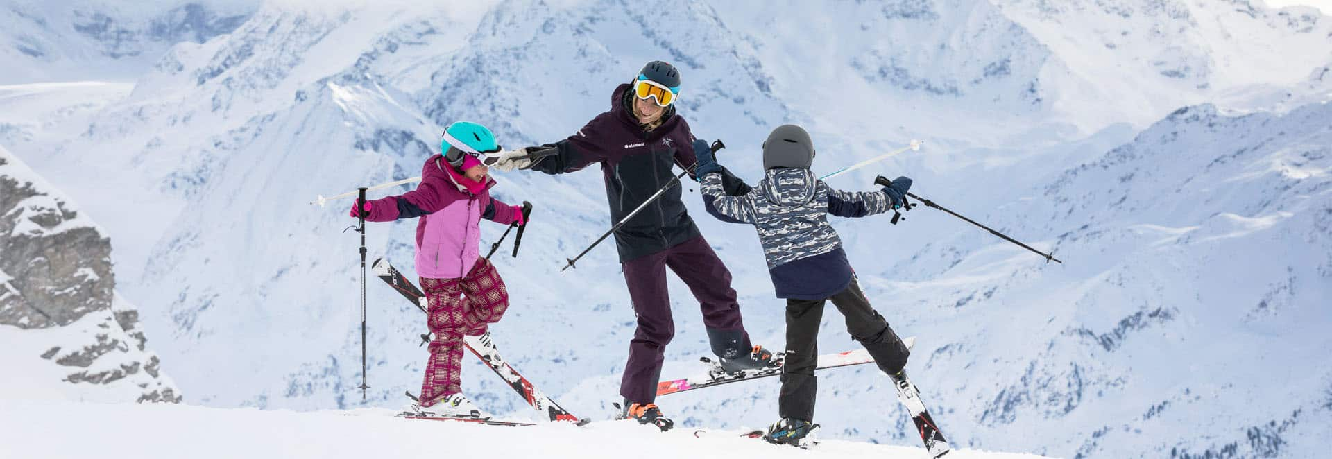 Private ski lessons in Verbier - Georgia and kids